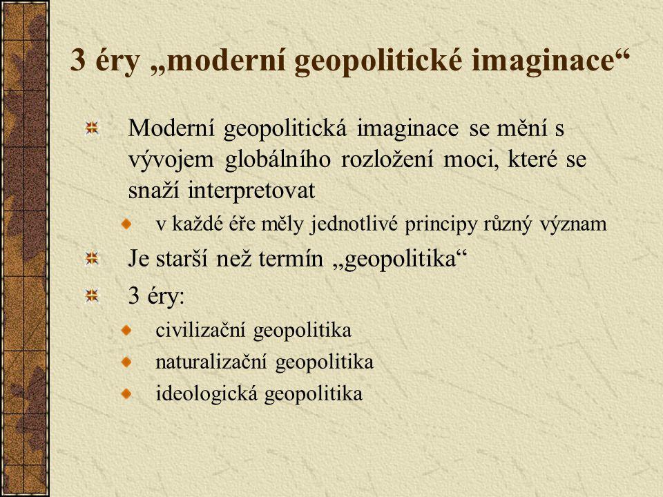 """3 éry """"moderní geopolitické imaginace"""