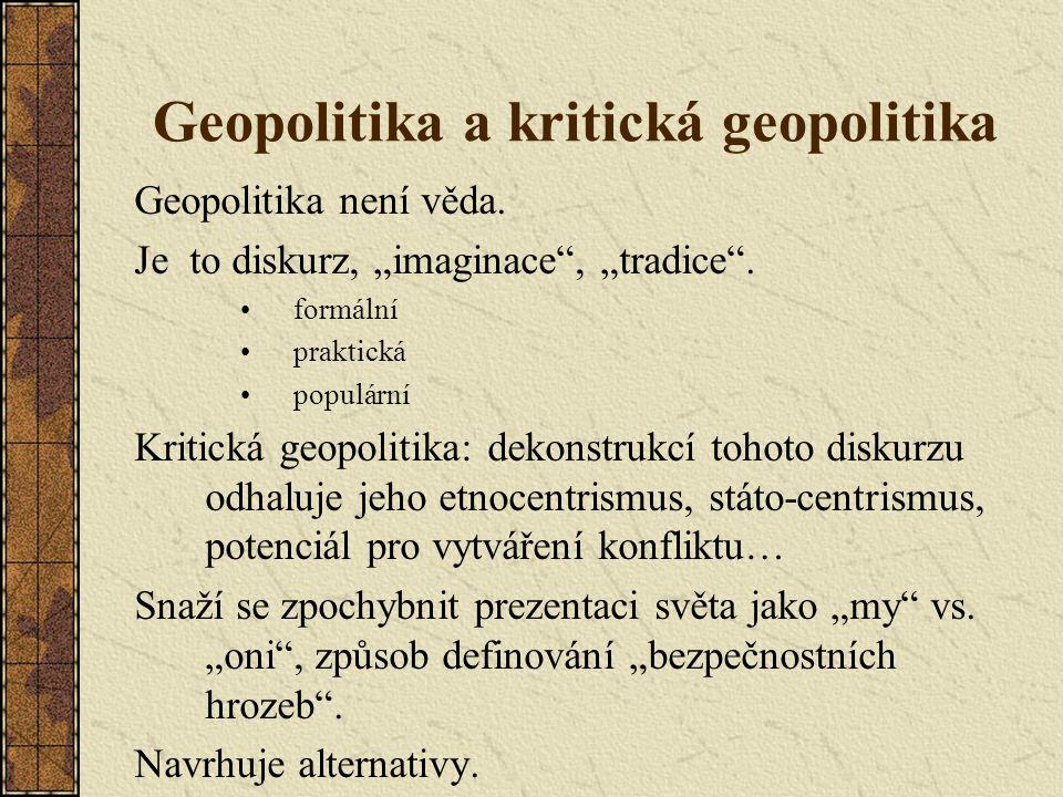 Geopolitika a kritická geopolitika