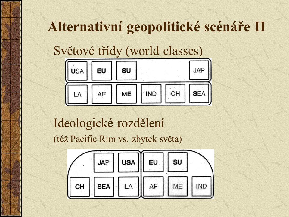 Alternativní geopolitické scénáře II