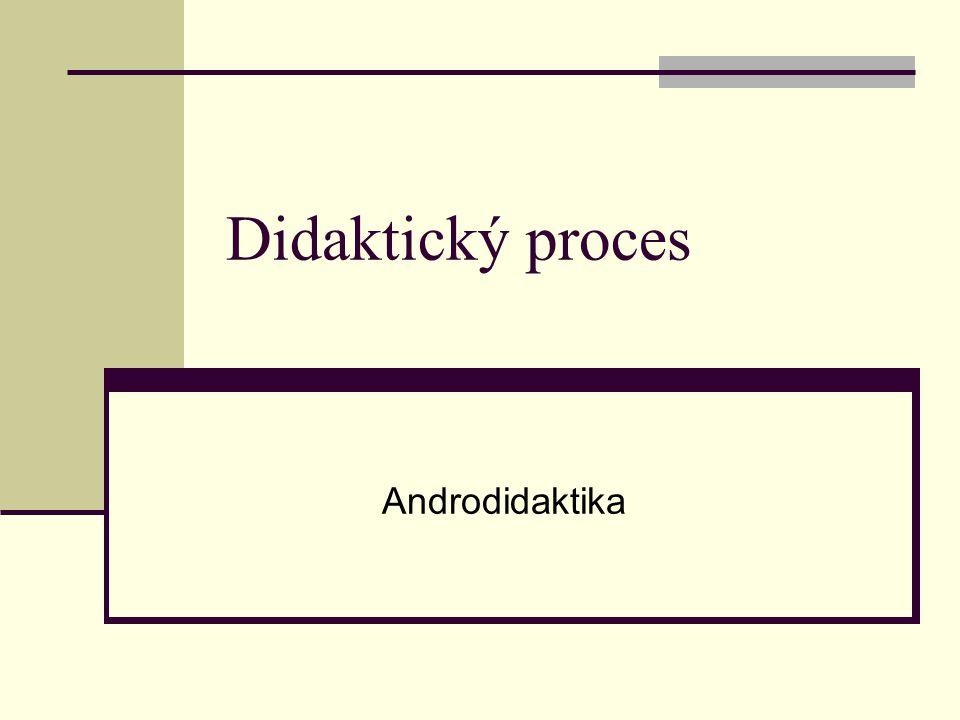 Didaktický proces Androdidaktika