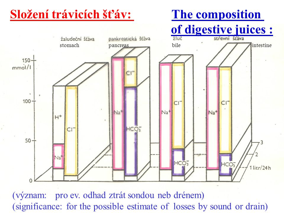 Složení trávicích šťáv: The composition of digestive juices :