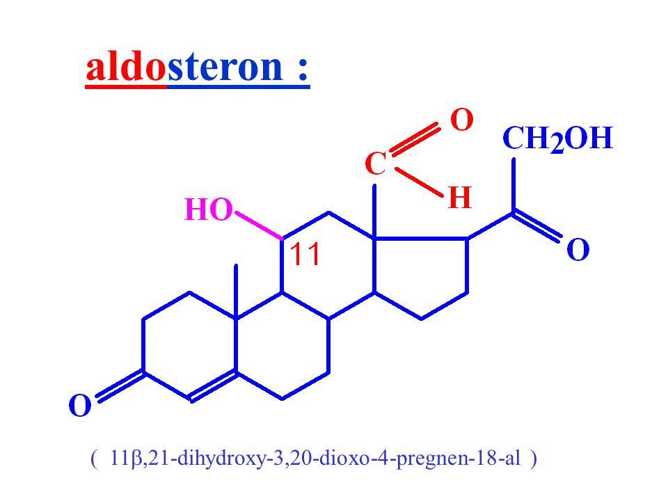aldosteron : ( 11,21-dihydroxy-3,20-dioxo-4-pregnen-18-al )