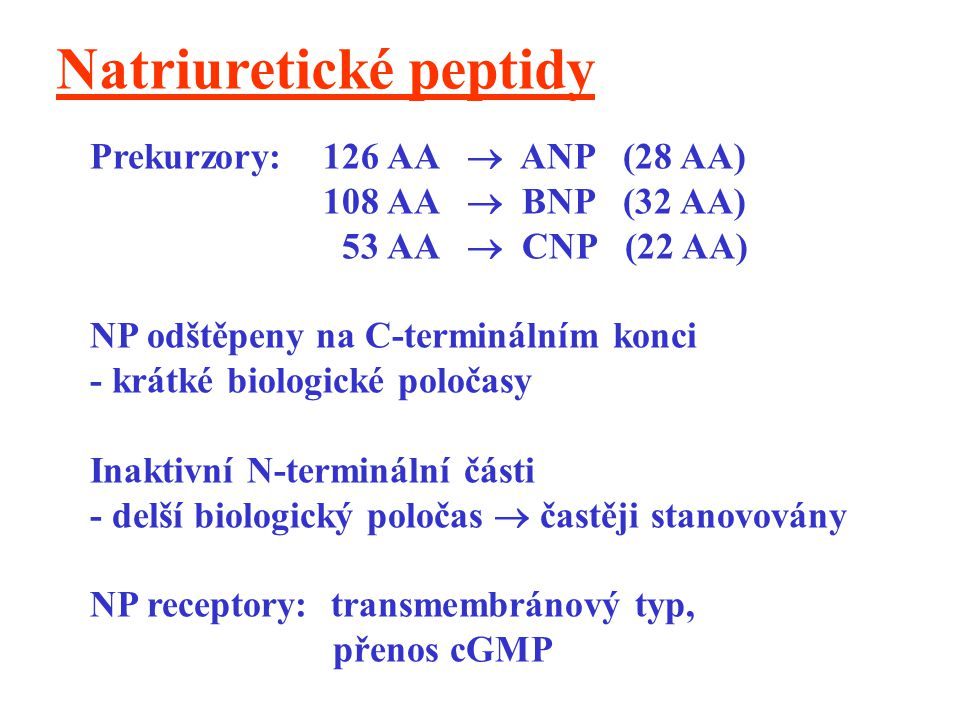 Natriuretické peptidy