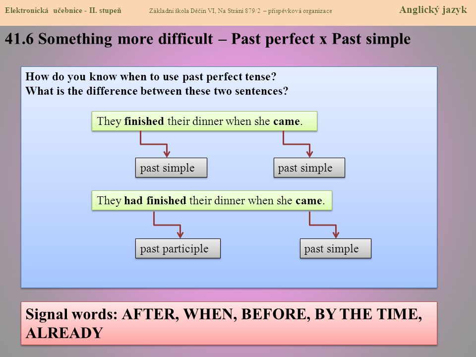 41.6 Something more difficult – Past perfect x Past simple