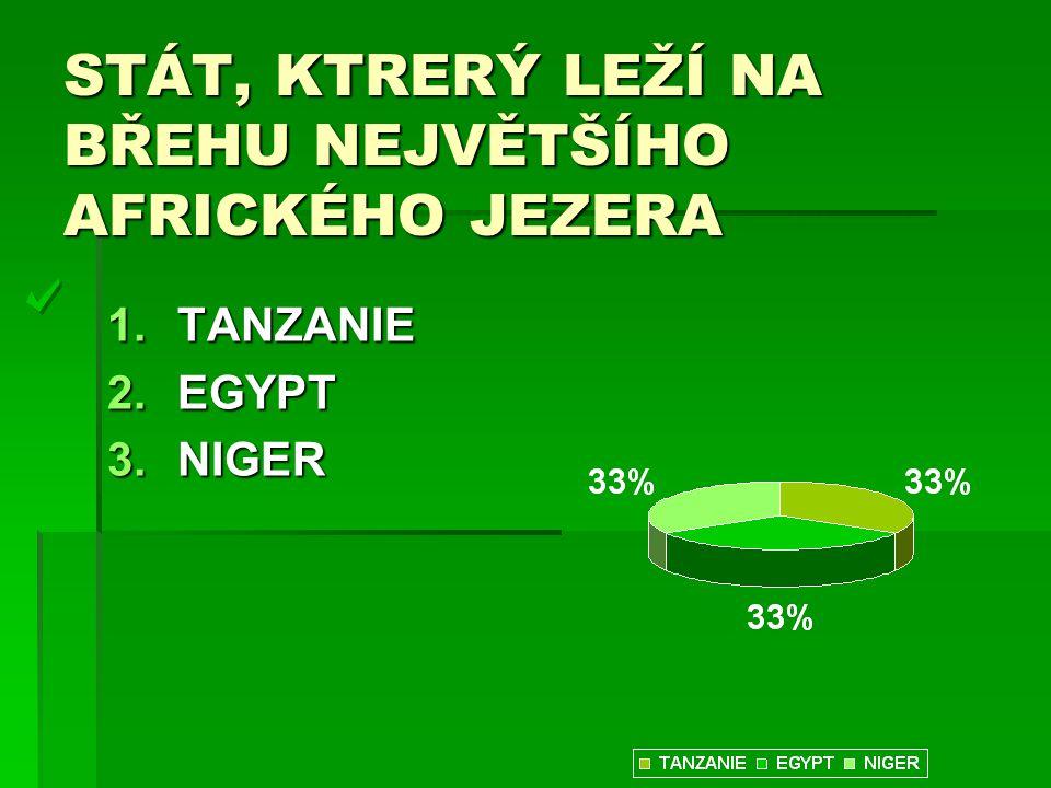 STÁT, KTRERÝ LEŽÍ NA BŘEHU NEJVĚTŠÍHO AFRICKÉHO JEZERA