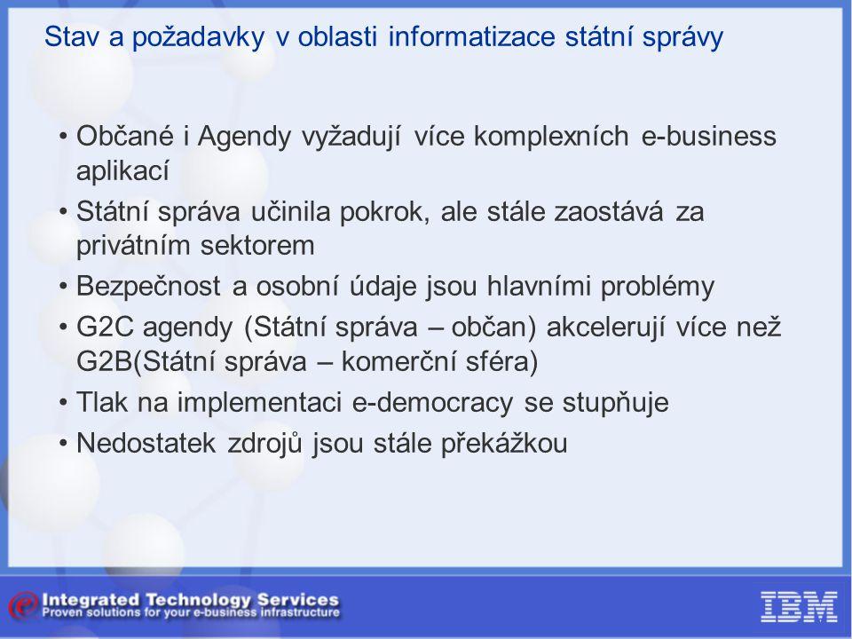 Stav a požadavky v oblasti informatizace státní správy