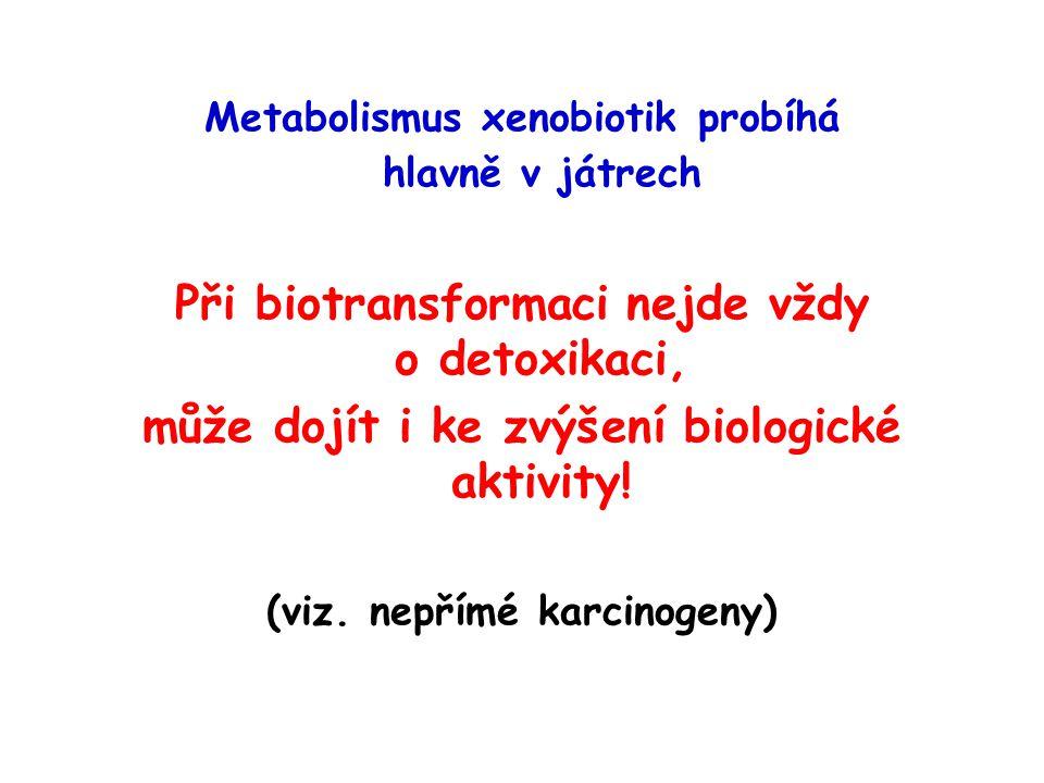 Při biotransformaci nejde vždy o detoxikaci,