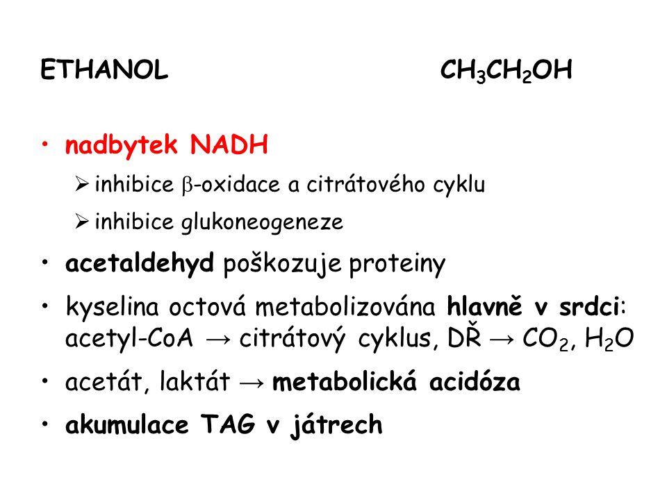 acetaldehyd poškozuje proteiny