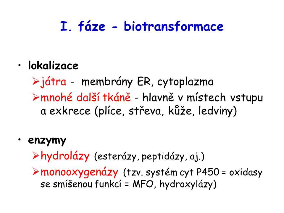 I. fáze - biotransformace