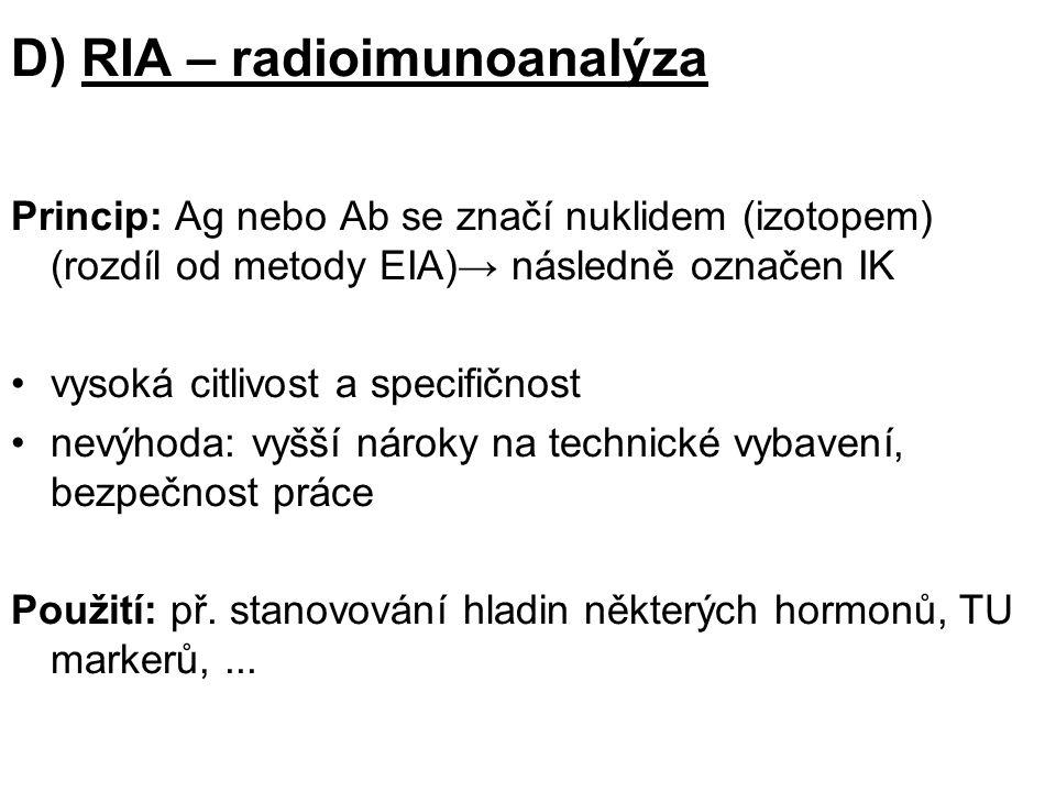 D) RIA – radioimunoanalýza