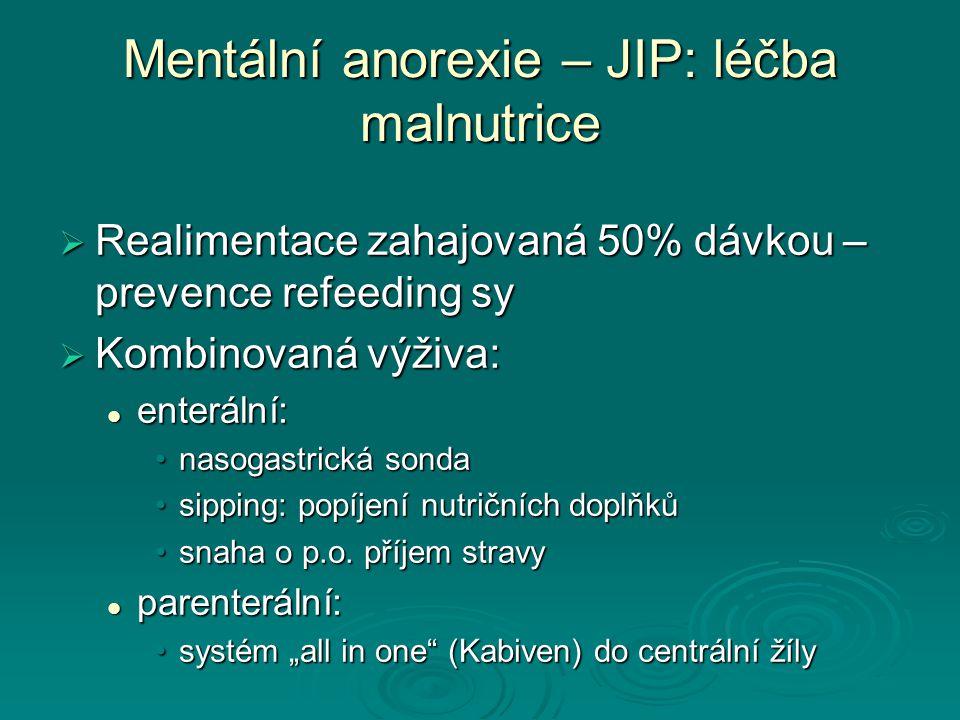Mentální anorexie – JIP: léčba malnutrice
