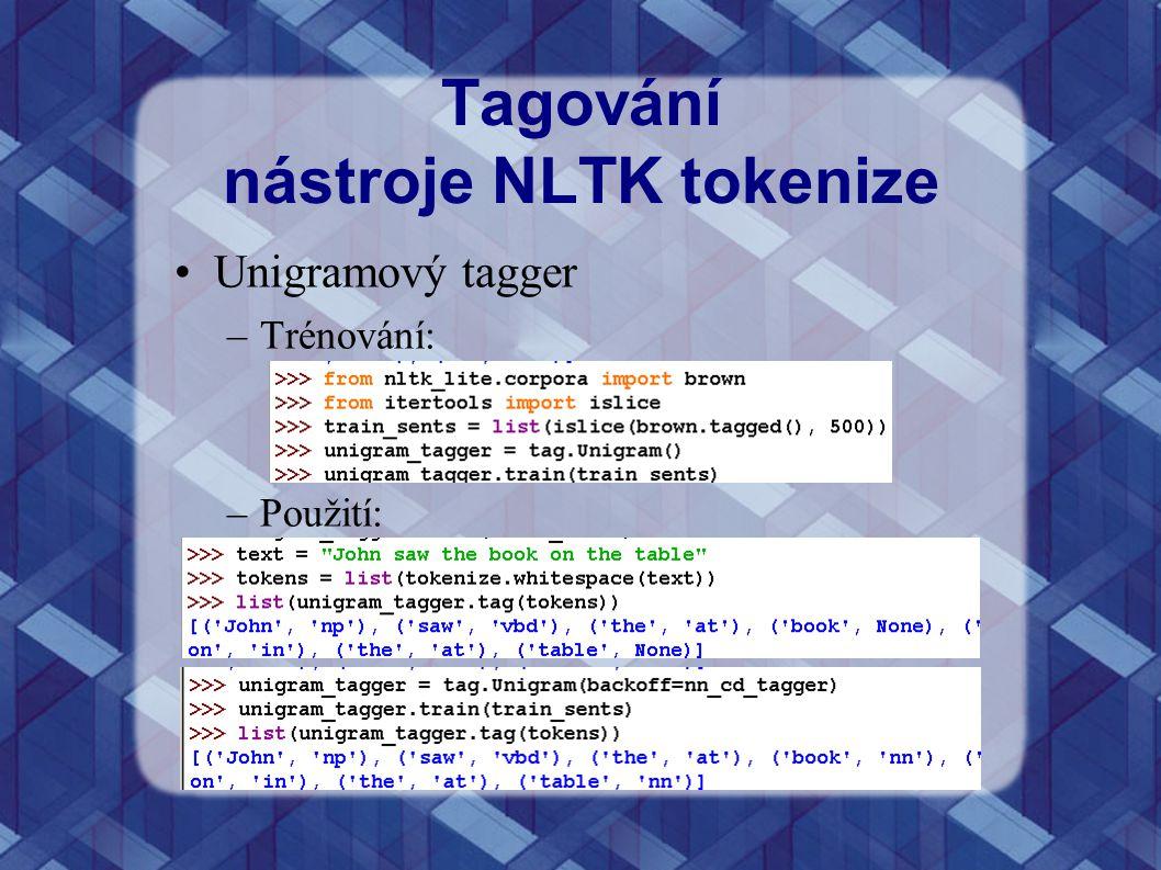 Tagování nástroje NLTK tokenize