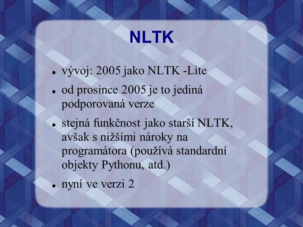 NLTK vývoj: 2005 jako NLTK -Lite