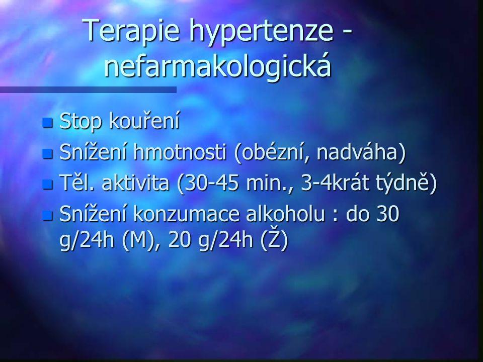 Terapie hypertenze - nefarmakologická