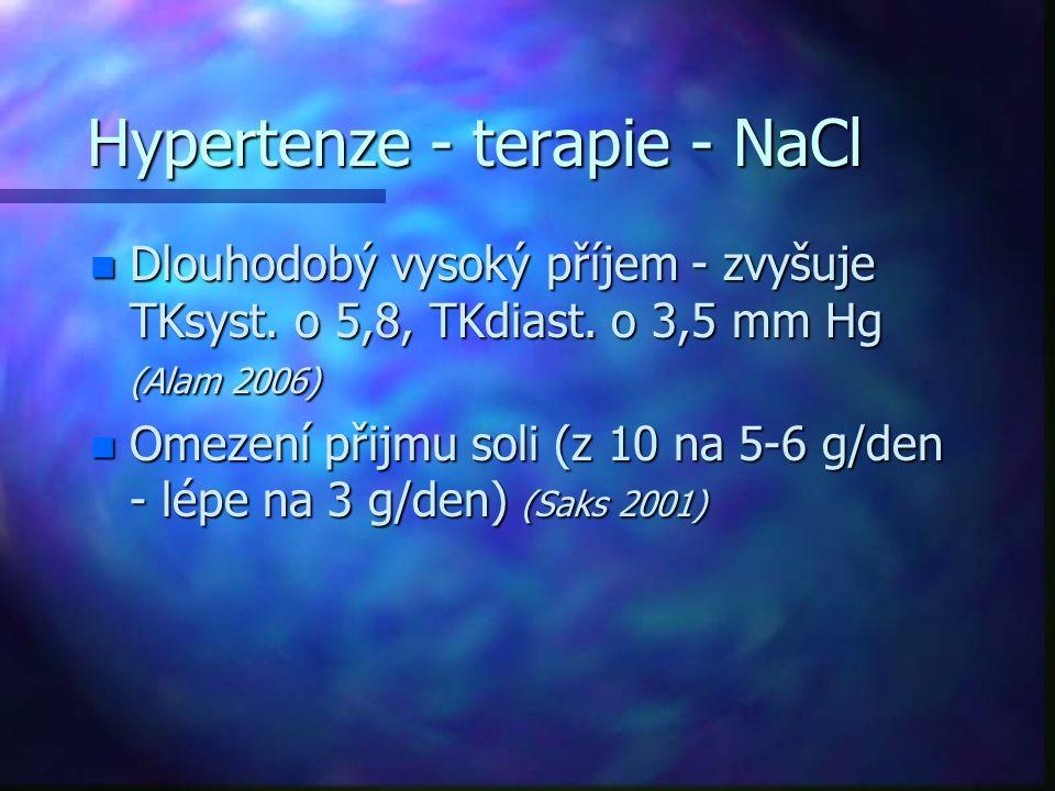 Hypertenze - terapie - NaCl