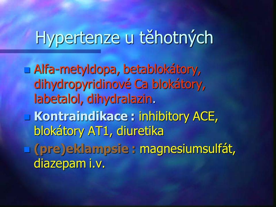 Hypertenze u těhotných