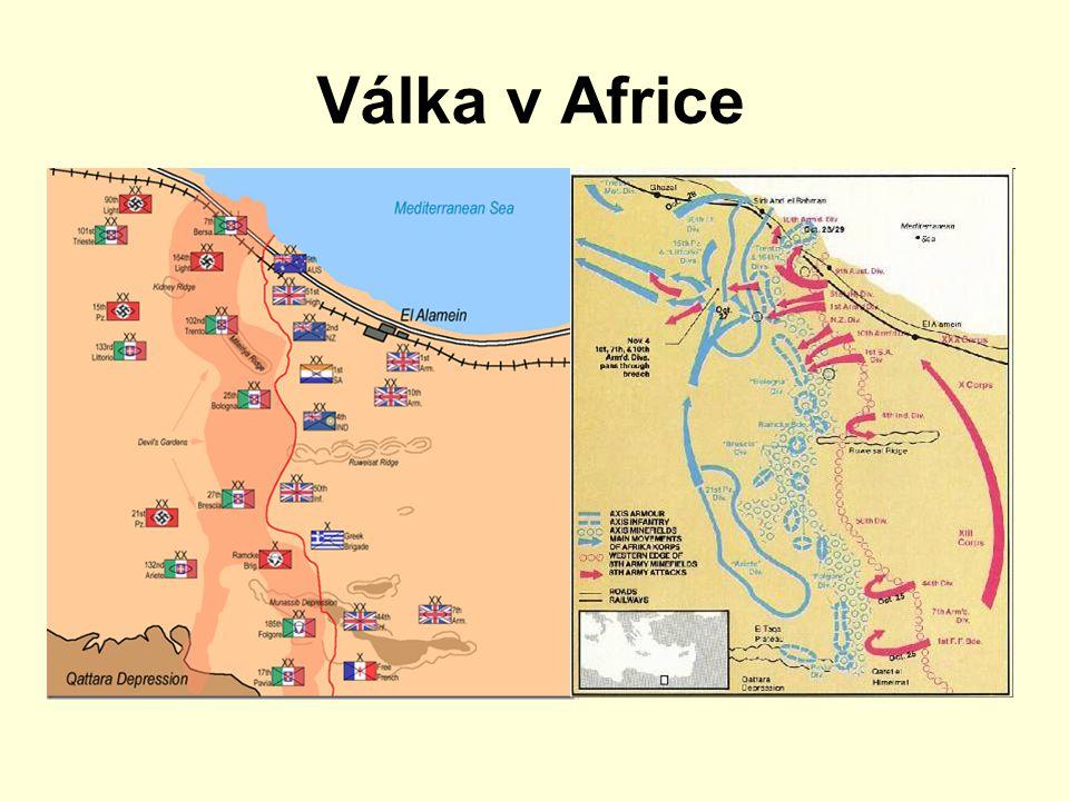 Válka v Africe Rommelův Afrikakorps dobyl Tobrúk nedostal žádné posily
