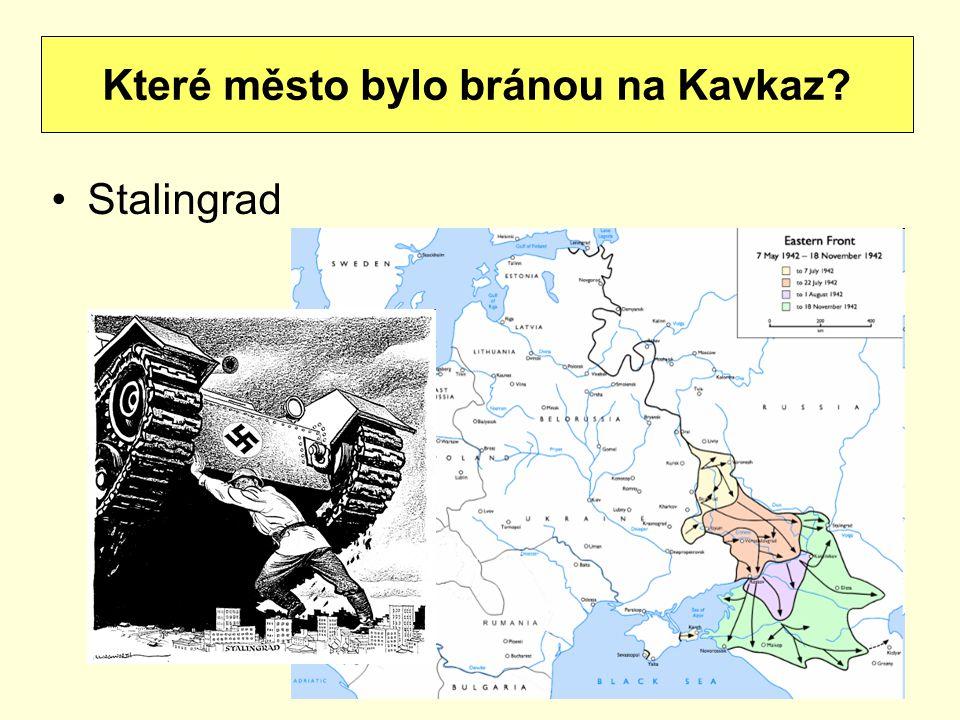 Které město bylo bránou na Kavkaz