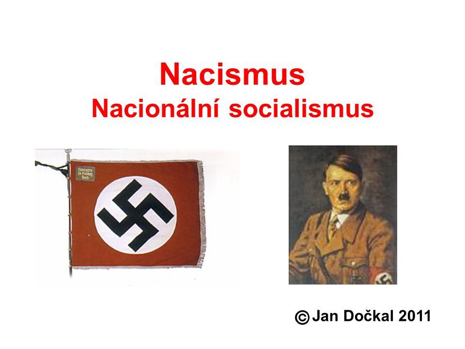 Nacismus Nacionální socialismus