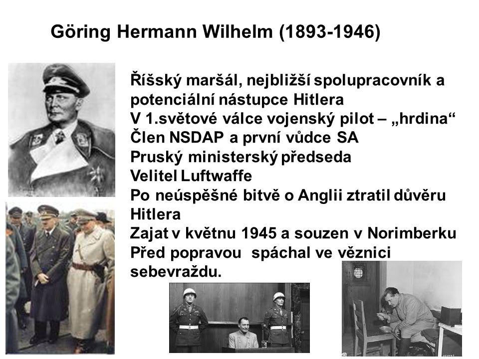 Göring Hermann Wilhelm (1893-1946)
