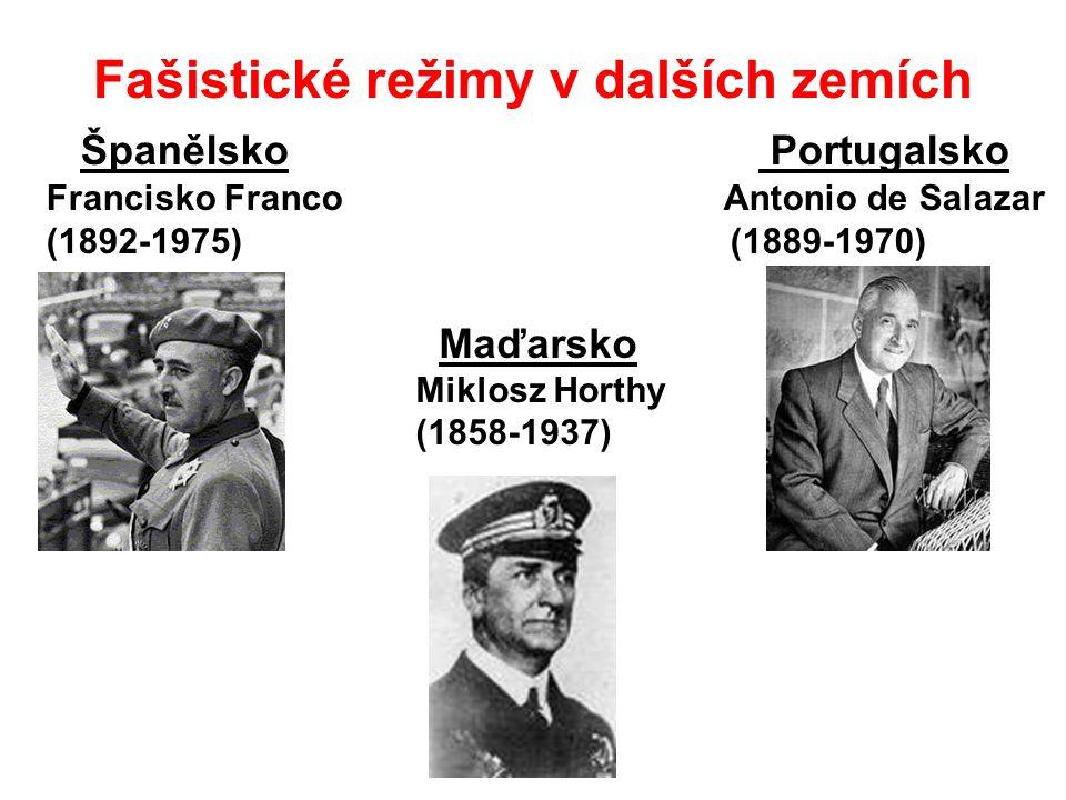 Fašistické režimy v dalších zemích