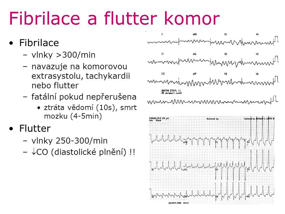 Fibrilace a flutter komor