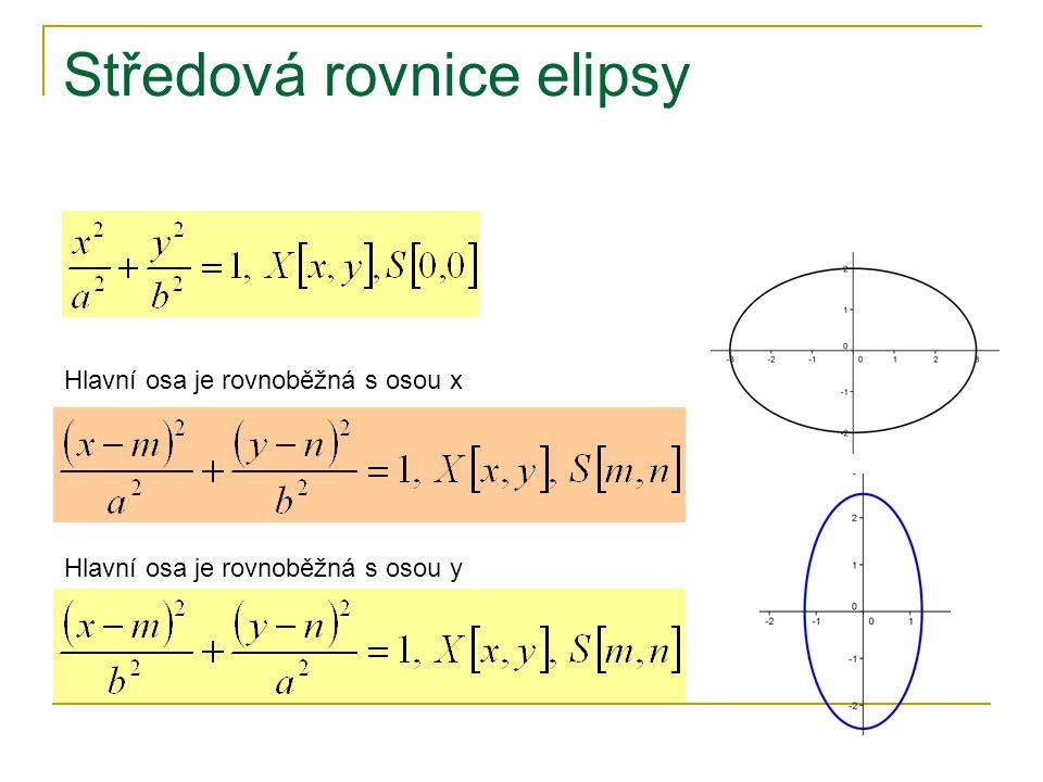 Středová rovnice elipsy