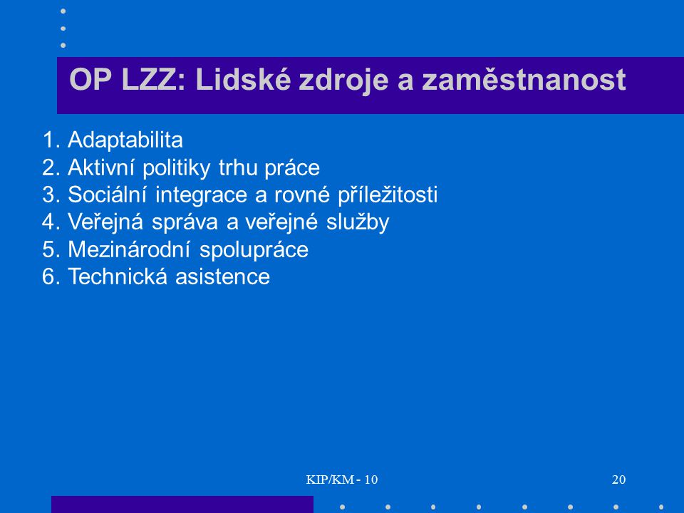 OP LZZ: Lidské zdroje a zaměstnanost