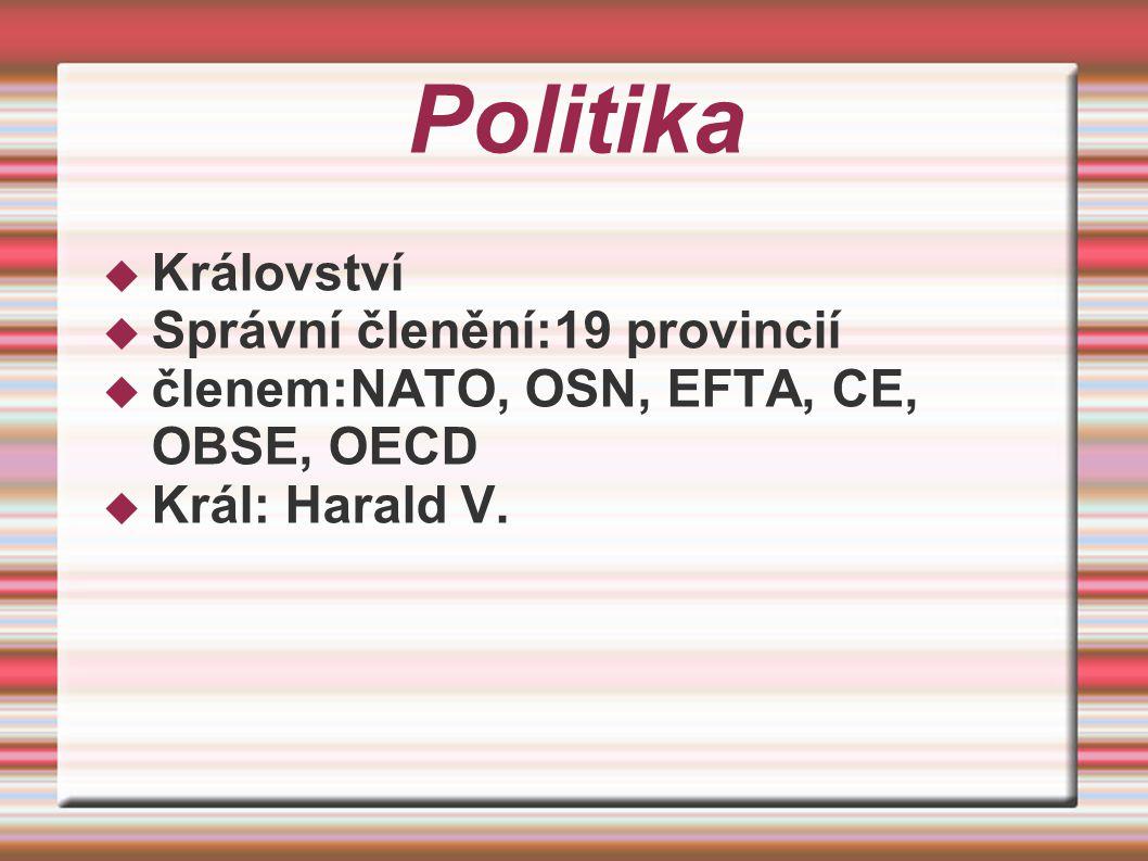 Politika Království Správní členění:19 provincií
