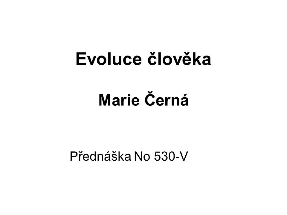 Evoluce člověka Marie Černá