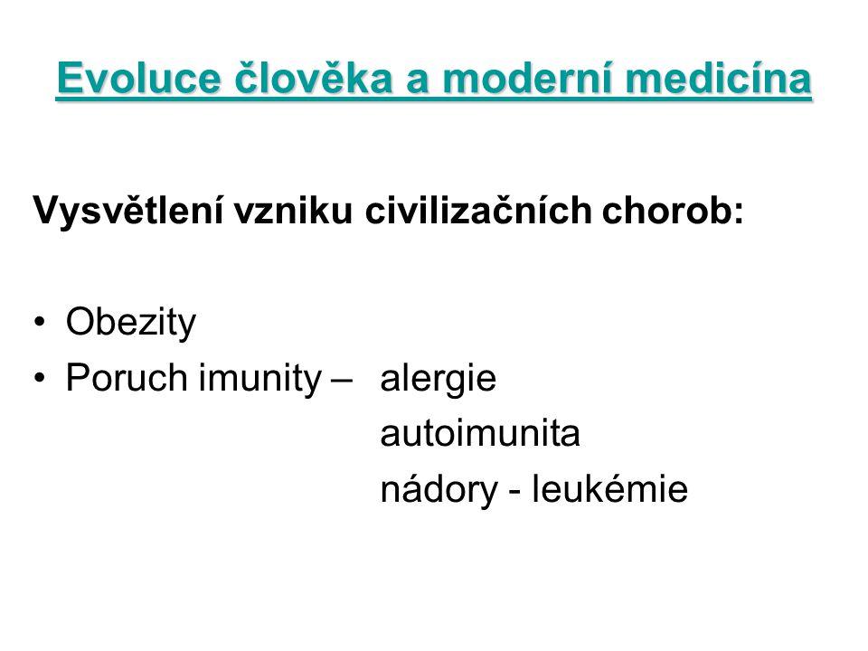 Evoluce člověka a moderní medicína