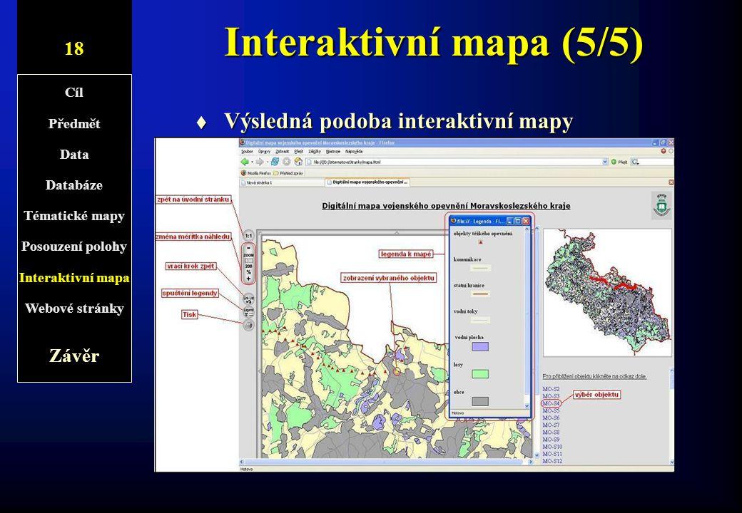 Interaktivní mapa (5/5) Výsledná podoba interaktivní mapy 10/1 18