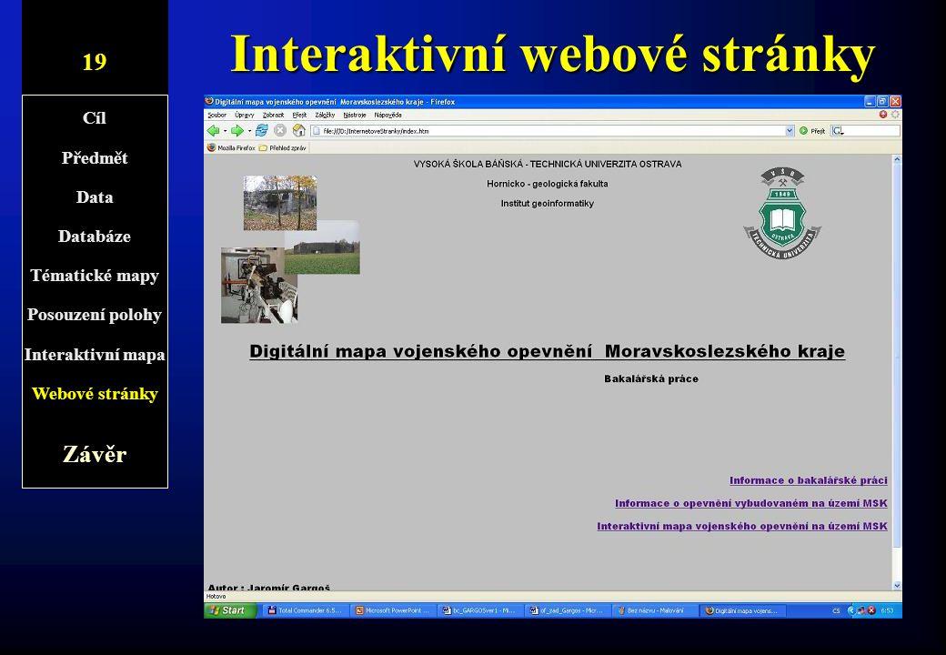 Interaktivní webové stránky