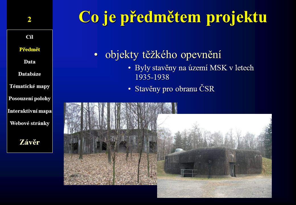 Co je předmětem projektu