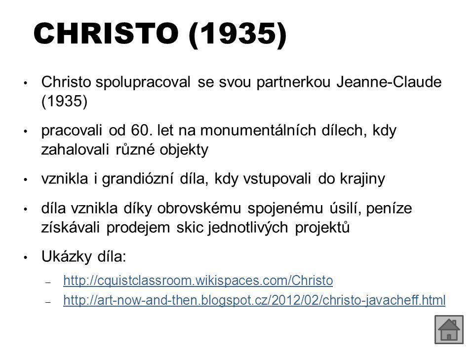 CHRISTO (1935) Christo spolupracoval se svou partnerkou Jeanne-Claude (1935)