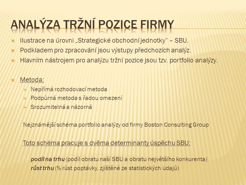 Analýza tržní pozice firmy
