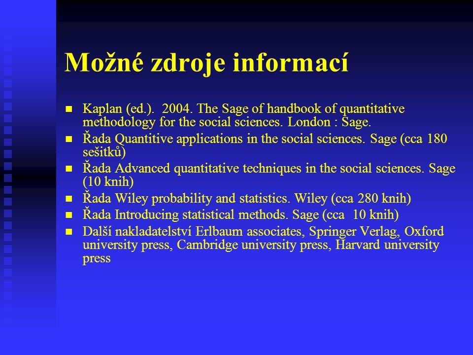 Možné zdroje informací
