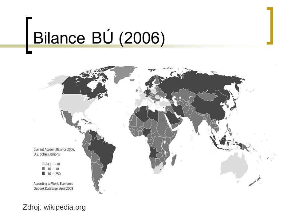 Bilance BÚ (2006) Zdroj: wikipedia.org