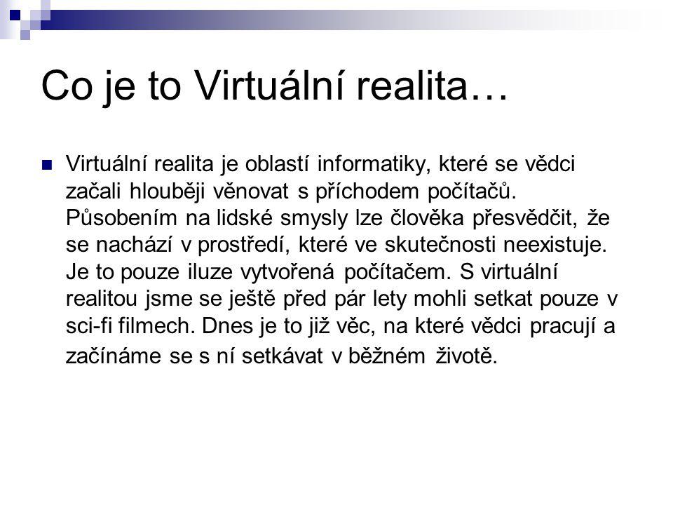 Co je to Virtuální realita…