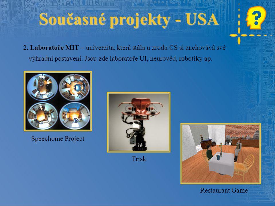 Současné projekty - USA