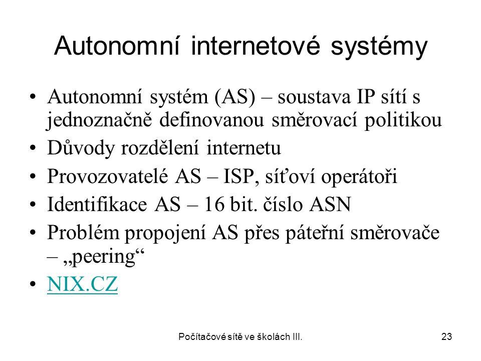 Autonomní internetové systémy