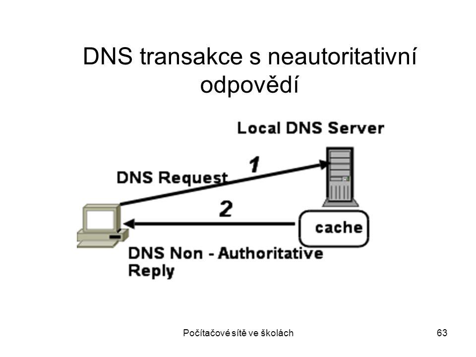 DNS transakce s neautoritativní odpovědí