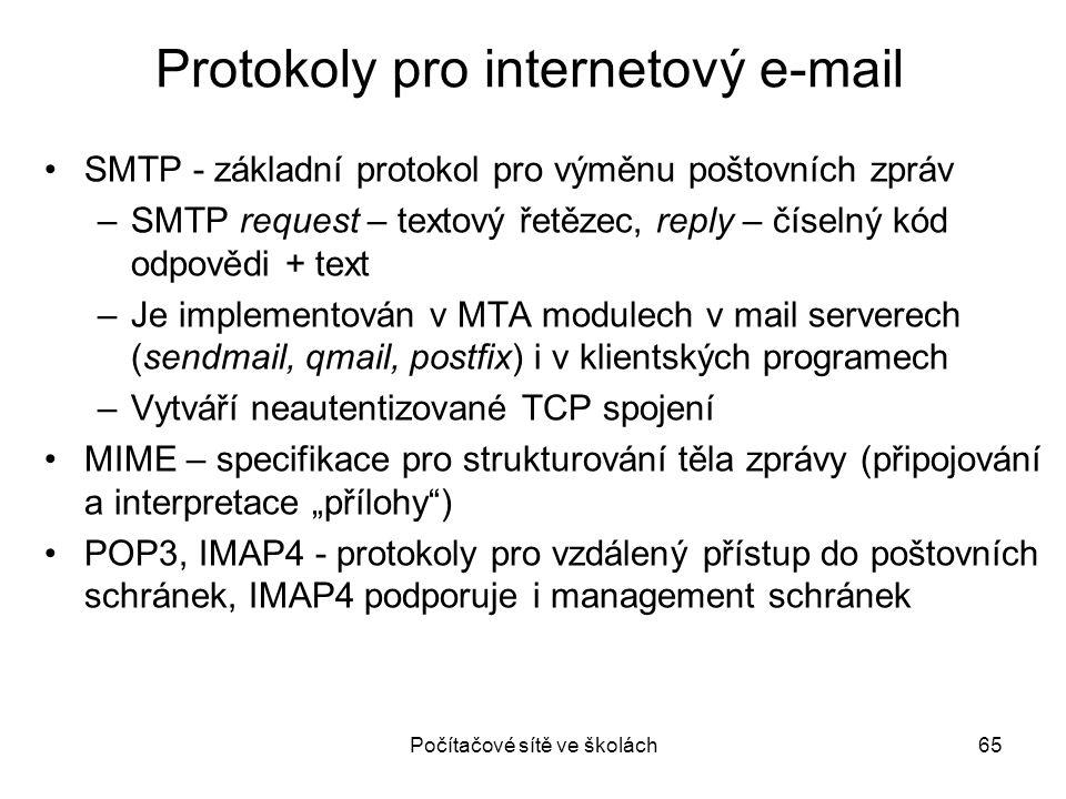 Protokoly pro internetový e-mail