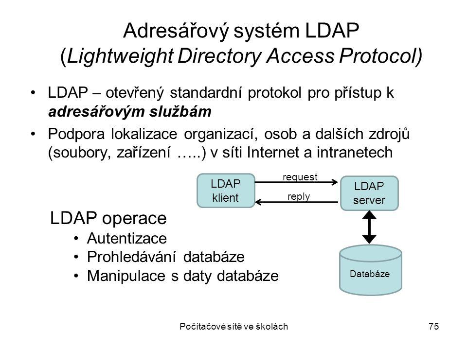Adresářový systém LDAP (Lightweight Directory Access Protocol)