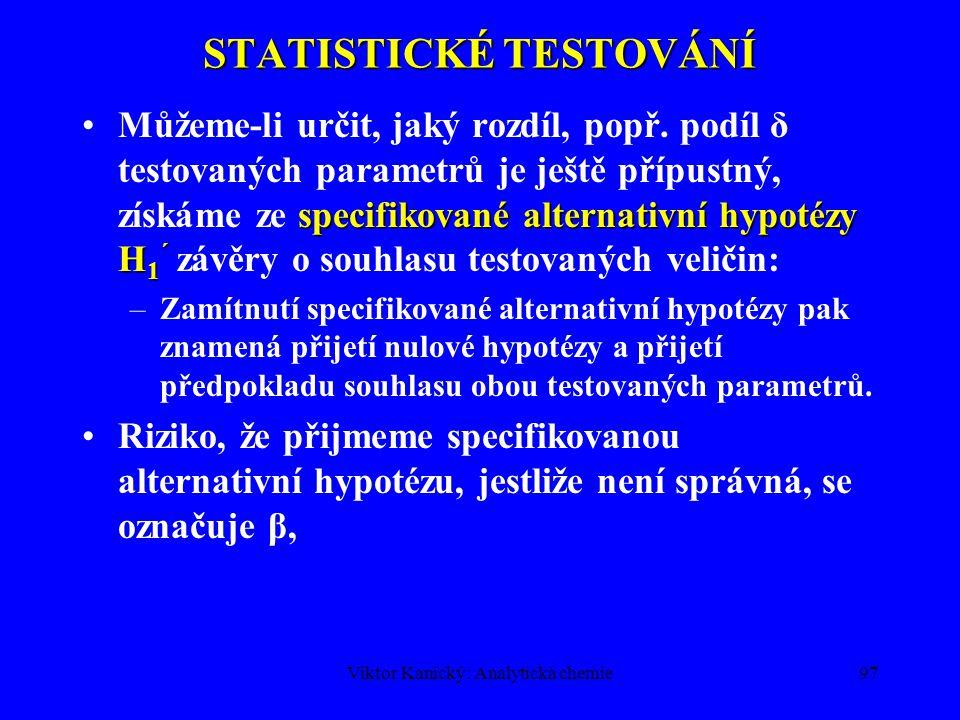 STATISTICKÉ TESTOVÁNÍ