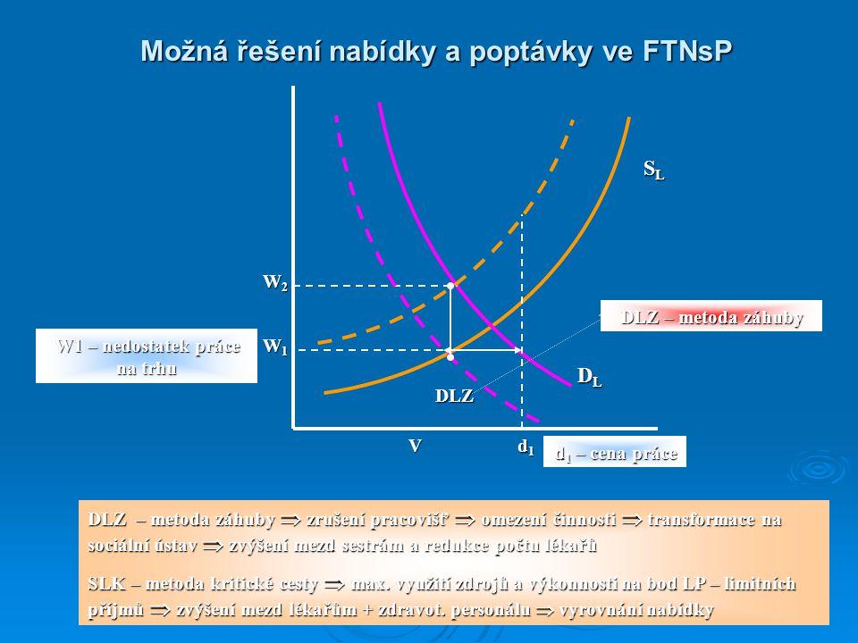 Možná řešení nabídky a poptávky ve FTNsP