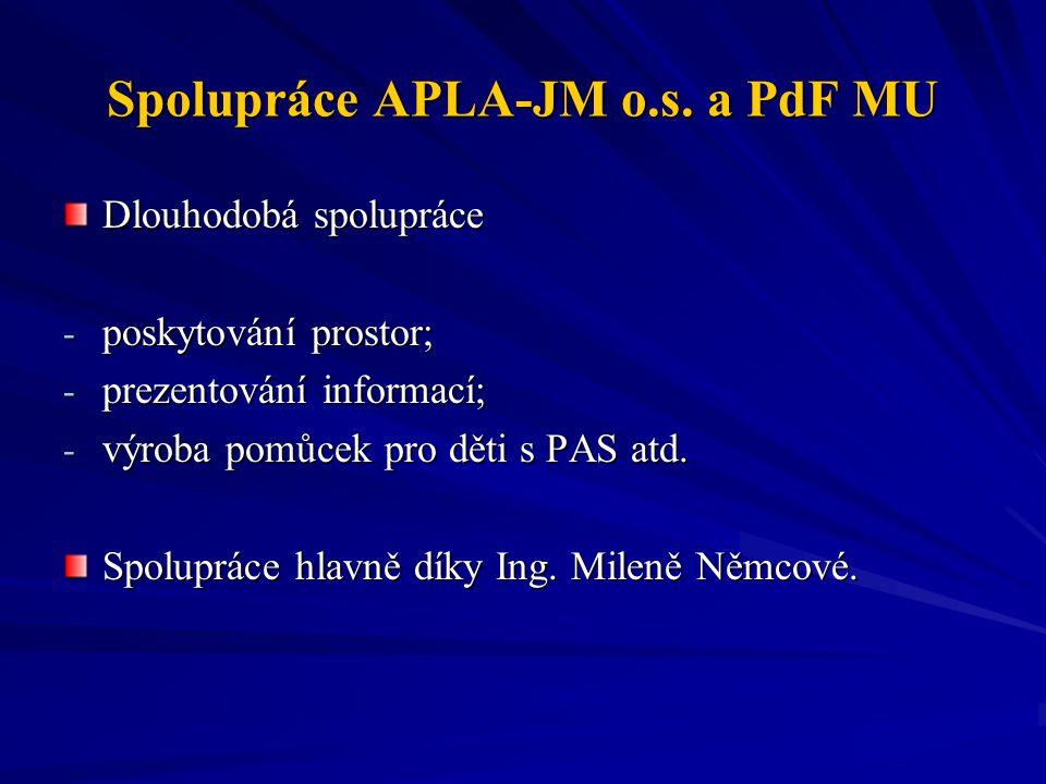 Spolupráce APLA-JM o.s. a PdF MU