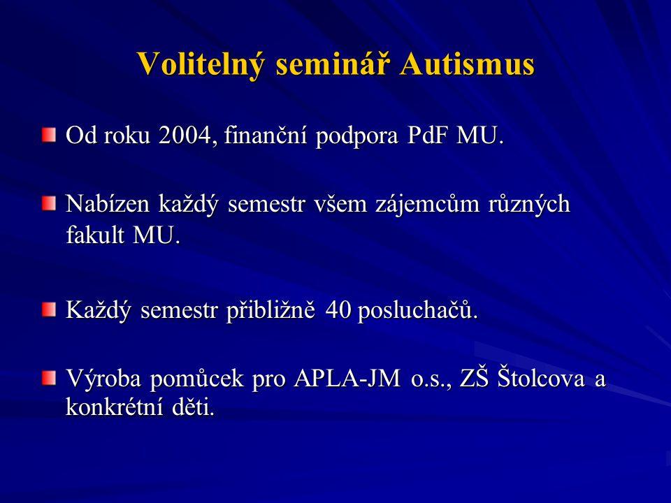 Volitelný seminář Autismus