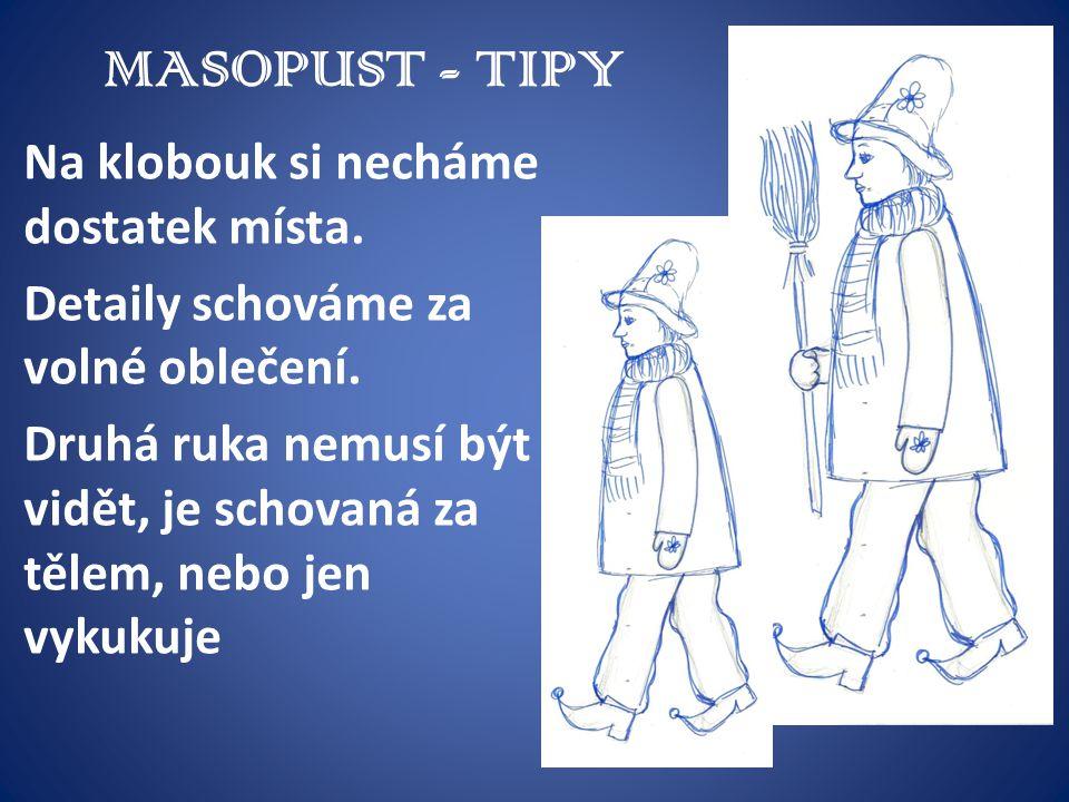 MASOPUST - TIPY Na klobouk si necháme dostatek místa.