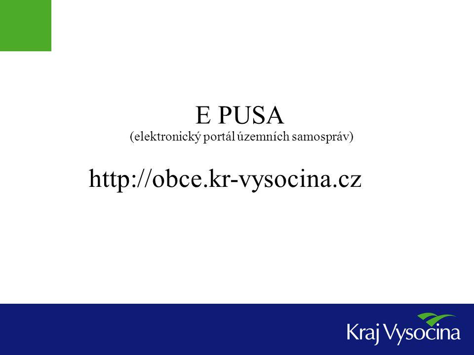 E PUSA http://obce.kr-vysocina.cz